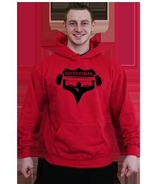 Pánská mikina SUPERHUMAN - červená černá a8c23e6888