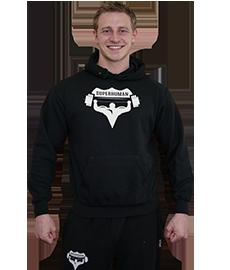 Pánská mikina SUPERHUMAN - černá bílá 868928510c